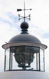 Classical Scandinavian white lighthouse tower Stock Photos
