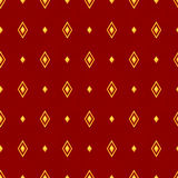 Classical seamless pattern with rhombus. Vector illustration. Stock Image