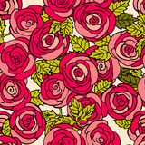 Classical seamless rose pattern Stock Image