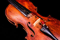 Classical shape wood vintage violin Royalty Free Stock Photos