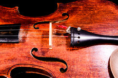 Classical shape wood vintage violin Stock Image