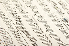 Classical sheet music Royalty Free Stock Photography