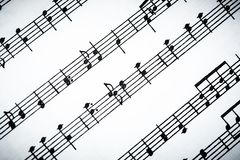 Classical Sheet Music Images stock