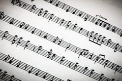 Classical Sheet Music Photos libres de droits