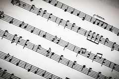 Classical Sheet Music Royalty Free Stock Photos