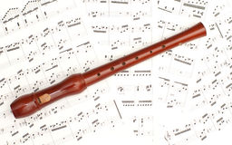 Classical sheet music and flute Royalty Free Stock Photos