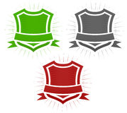 Classical shield badges Royalty Free Stock Images