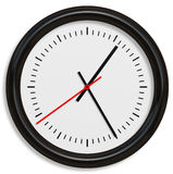 Classical Simple Clock Face with Arrows in White backgrounds Royalty Free Stock Photo