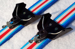 Classical ski binding system 75 mm Royalty Free Stock Image