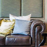 Classical sofa style with pillows Stock Photo