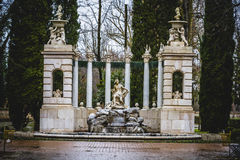 Classical sources of water in the royal gardens of Aranjuez, Spa Royalty Free Stock Images