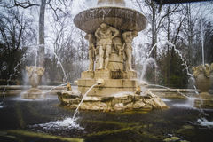 Classical sources of water in the royal gardens of Aranjuez, Spa Stock Photo