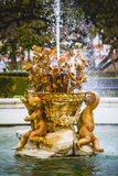 Classical sources of water in the royal gardens of Aranjuez, Spa Royalty Free Stock Photo