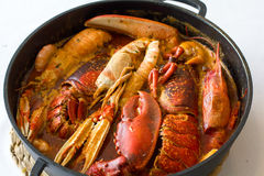 Classical Spanish dish with crabs Royalty Free Stock Image