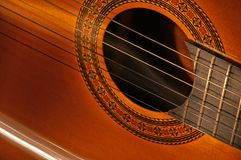 Classical Spanish guitar Stock Images