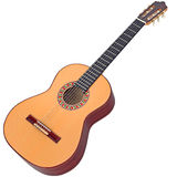 Classical Spanish guitar wooden Royalty Free Stock Images