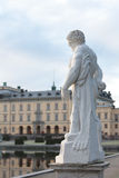 Classical statue. Against Drottningholm palace, Stockholm, Sweden Royalty Free Stock Photography