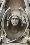Classical statue of an angel with wings Royalty Free Stock Images