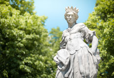 Classical statue in park in Warsaw, Poland, Europe Royalty Free Stock Photo