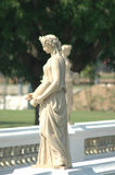 A classical statue. A white classical statue on a bridge Royalty Free Stock Photography