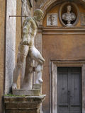 Classical statues in Mattei Palace, Rome, Italy. The Palazzo Mattei di Giove is the most prominent among a group of Mattei houses that forms the insula Mattei in Royalty Free Stock Photos