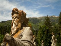 Classical Statues with Nature. Beautiful classical statues with natural background in Romania royalty free stock image