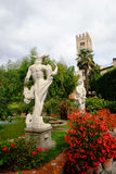 Classical statues in Pfanner palace garden, Lucca Royalty Free Stock Images