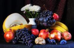Classical still life with fruits Stock Image