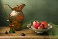 Classical still life with vintage pitcher Royalty Free Stock Photo