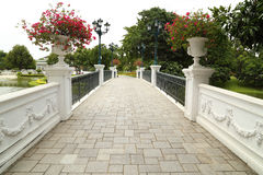 Classical stone bridge of the royal palace Stock Photos