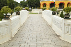 Classical stone bridge of the royal palace Stock Photo