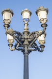 Classical streetlight with blue sky Royalty Free Stock Images