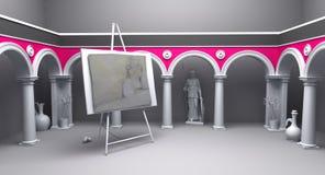 Classical studio 04 Stock Images