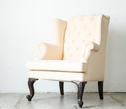 Classical style Armchair sofa couch in vintage room Stock Photography