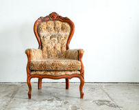 Classical style Armchair sofa couch in vintage room Stock Photos