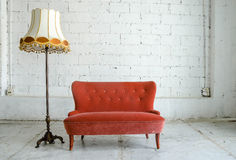 Classical style Armchair sofa couch Royalty Free Stock Photos