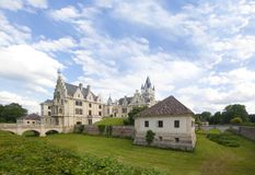 Classical style castle panorama Stock Photos