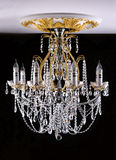 Classical style chandelier on ceiling Royalty Free Stock Images