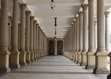 Classical style colonnade, Karlovy Vary Royalty Free Stock Photo