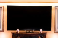 Mock TV in classical living room royalty free stock image