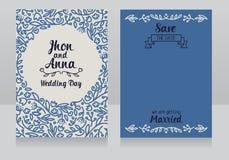 Classical style wedding invitations Stock Photo