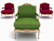 Classical stylish armchairs Stock Image