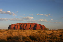 Classical Sunset on Uluru Royalty Free Stock Photos