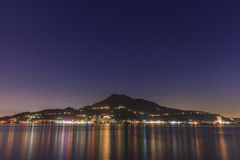 Classical tamsui nightscene in New Taipei City. Taiwan Royalty Free Stock Image