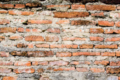 Classical Textured Brick Wall. Classical Textured Brick Wall at the Narai palace at Lopburi, Thailand royalty free stock photo