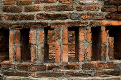 Classical Textured Brick Wall at the Narai Palace. Stock Images