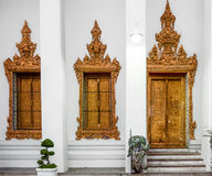 Classical Thai  architecture in Wat Pho public temple, Bangkok, Thailand. Wat Pho known also as the Temple of the Reclining Buddha Royalty Free Stock Photography