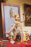Classical Thai folk-dance. NAKHON SI THAMMARAT, THAILAND - AUGUST 03: Man dance Ma-No-Ra Form of folk-dance at opening Nang Talung Museum, House of The National Stock Photography