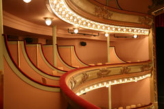 Classical Theater. A Classical Theater Balcony with lights Stock Photography