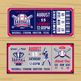 Classical tickets to the championship baseball and softball. Vector illustration for classical tickets to the championship baseball and softball vector illustration